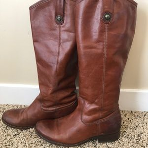 Frye Melissa Calf Boots in Whiskey